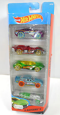 HOT WHEELS CDT23 HW RACE - X-Raycers 5er Set Spielzeugauto Auto MATTEL (K25)