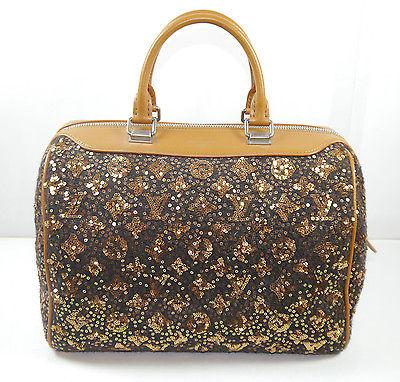 LOUIS VUITTON M40800 Monogram Sunshine Express Speedy Pailetten braun Handtasche