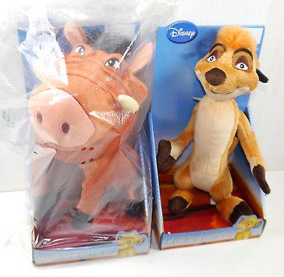 THE LION KING König der Löwen - Timon & Pumbaa Stofftier Set DISNEY Joy Toy (L)