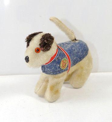 FIRMA CARL Terrier mit Mechanik Werbefigur 50er Jahre   ca.11,5cm (K8)