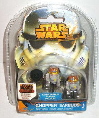 STAR WARS Rebels - Chopper Kopfhörer earbuds headphone JAZWARES Neu (LR3)