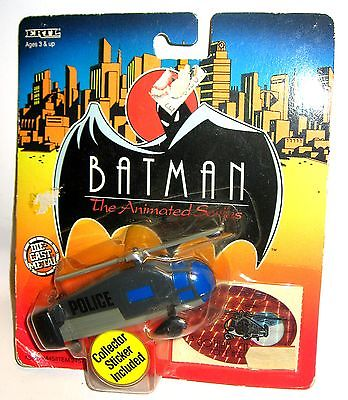 BATMAN The Animated Series- Gotham City Police Helicopter + Sticker 12cm/K11