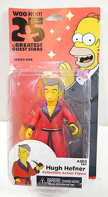 SIMPSONS 25 Greatest Guest Stars - Hugh Hefner Actionfigur Series One NECA Neu*L