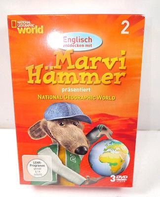 Englisch entdecken MARVI HÄMMER 2 - 3 DVD 's National Geographic World NEU (WR8)