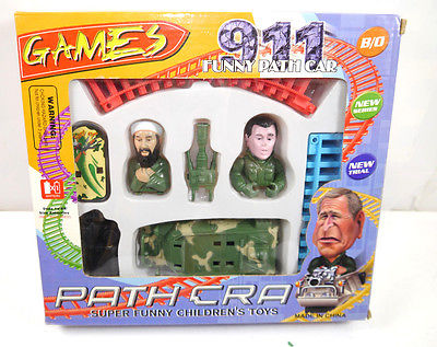 PATH CRA 911 Funny Path Car George Bush + Osama Bin Laden Achterbahn NEU *K70