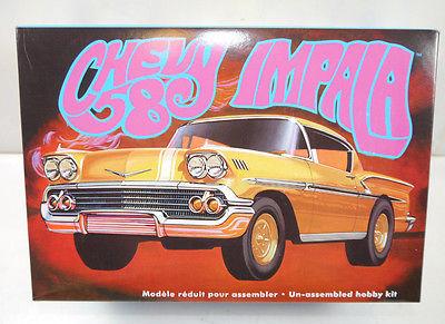 AMT ERTL 931/12 Chevy Impala 1958 Auto Plastik Modellbausatz 1:25 (F3)