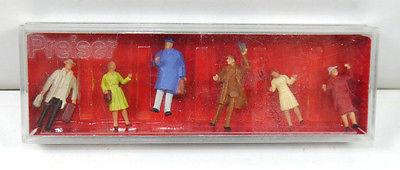 PREISER 14028 Begrüßungsszene 6 Figuren Modellbausatz H0 1:87 #08 (K29)