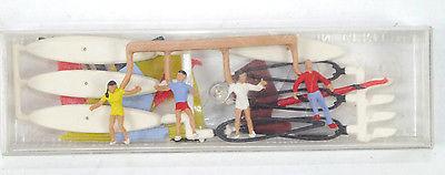 PREISER 2481 Windsrufer 4 Mini Figuren Modellbausatz Merten H0 1:87 #01 (K29)