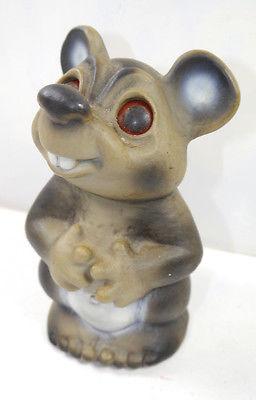 DAM TROLL Maus Mouse 1984 Figur Spardose Bust Bank ca.17cm (K34)