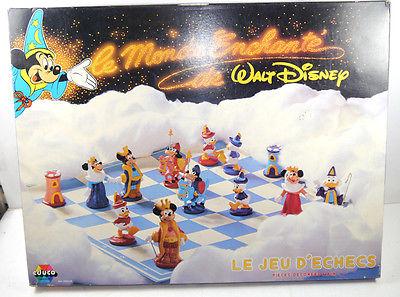 WALT DISNEY Le monde enchante de Schach Spiel Schachbrett 6250.05 EDUCO (F7)