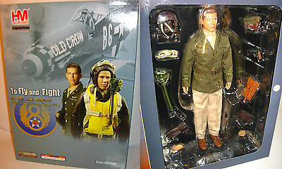 HOBBY MASTER HF0002 1/6 Bud Anderson American WWII Triple Ace Fighter Pilot (L)