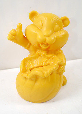 COMMERZBANK Goldi Hamster mit Sack Werbefigur Spardose Prototyp #D (K1)