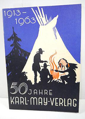 50 JAHRE KARL-MAY-VERLAG 1913 - 1963 Radebeul bei Dresden Heft (WRY)
