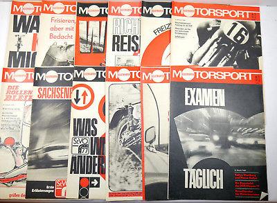 ILLUSTRIERTER MOTORSPORT Heft 1 - 12 / 1977 Zeitschrift Sportverlag DDR (WRZ)