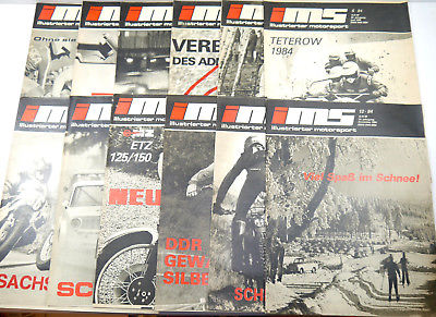 IMS Illustrierter Motorsport Heft 1 - 12 / 1984 Zeitschrift Sportverlag DDR *WRZ