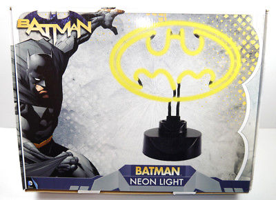 BATMAN Neon Light Logo Lampe Tischlampe DC COMICS Groovy NEU (L)