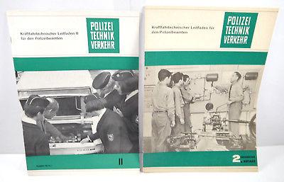 POLIZEI TECHNIK VERKEHR Kraftfahrtechnischer Leitfaden Heft 1 & 2 / 1968 #D *WR4