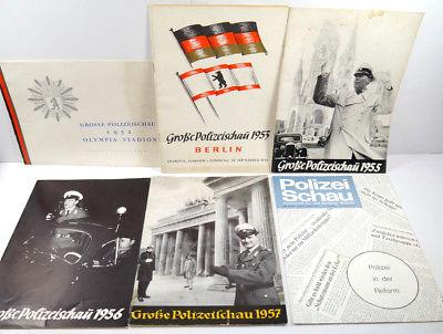 GROSSE POLIZEISCHAU 1952 1953 1955 1956 1957 1972 Heft OLYMPIASTADION #A (WR4)