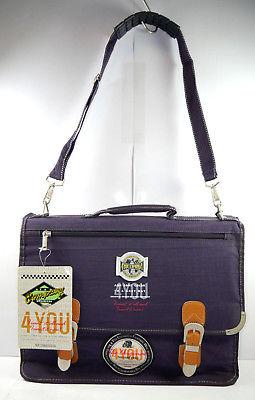 4YOU Company 1114 Aktentasche Umhängetasche Tasche dunkellila lila Neu (F2)