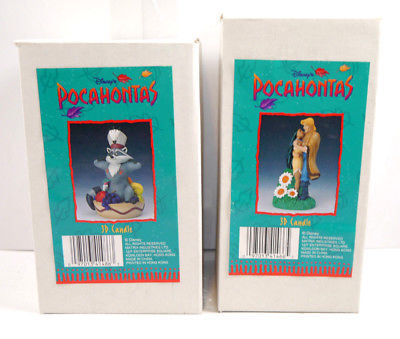 Disney POCAHONTAS - 3D Kerze Candle Set mit John Smith & Meeko NEU (K3) K.