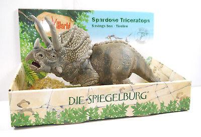 T-REX WORLD Triceratops Spardose Bust Bank Figur Dinosaurier SPIEGELBURG Neu *K5