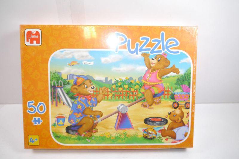 Jumbo  Puzzle 021244 Bärchen auf der Wippe 50 Teile   NEU   OVP  ( B6 )B