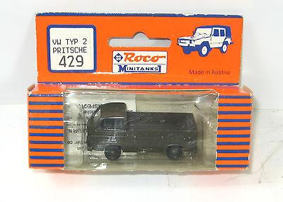ROCO Minitanks   429 VW Typ 2 Pritsche Modellauto H0 mit OVP (K1)