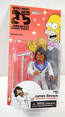 SIMPSONS 25 Greatest Guest Stars   James Brown Actionfigur Series One NECA Neu*L