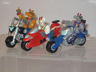 Biker Mice Bully 1994  6 Figuren / kompletter Satz ca. 7 cm Gummifiguren (K14) 1