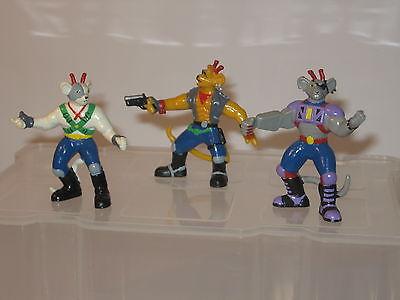 Biker Mice Bully 1994  6 Figuren / kompletter Satz ca. 7 cm Gummifiguren (K14) 2