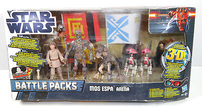 STAR WARS Mos Espa Arena - 5er Actionfigur Set BATTLE PACKS Hasbro Neu (LR15)