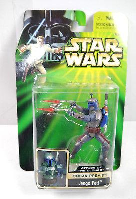STAR WARS Attack of the Clones - Jango Fett Actionfigur HASBRO Neu (L)