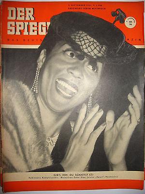 DER SPIEGEL # 36 (9/1951) Zeitschrift Heft / Edna Mae (K21)