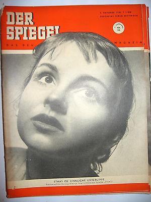 DER SPIEGEL # 40 (10/1951) Zeitschrift Heft / Ingrid Andree (K21)
