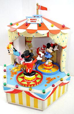 DISNEY CHARACTERS Music Box - Mickey's Circus Zirkus Spieluhr Figur SCHMID (F30)