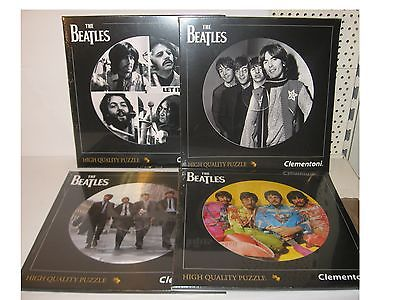 The Beatles  4 Puzzle Puzzel á 212 Teile Clementoni LP Kollektion rund Neu (KB)