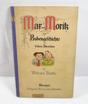 MAX & MORITZ Bubengeschichte Buch HC Wilhelm Busch BRAUN UND SCHNEIDER (WR5)