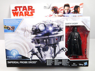 STAR WARS Force Link - Imperial Probe Droid & Darth Vader Actionfigur HASBRO (L)