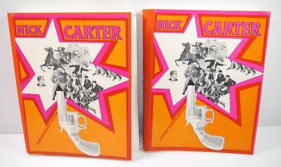 NICK CARTER Band 1 - 25 Romanheft mit Mappe REPRINT (WRY)