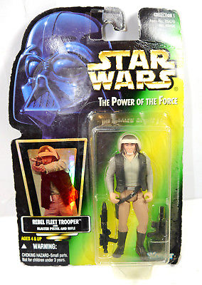 STAR WARS Power of the Force - Rebel Fleet Trooper Actionfigur HOLO Kenner (L)