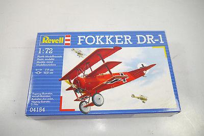 REVELL 04154 Fokker DR-1 Flugzeug Plastik Modellbausatz 1:72 (K37)