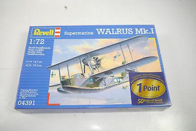 REVELL 04391 Supermarine Walrus Mk.I Flugzeug Plastik Modellbausatz 1:72 (K37)