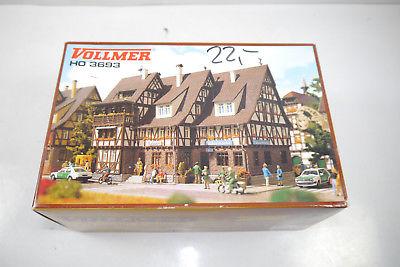 VOLLMER 3693 Rathaus mit Polizei Gefängnis  Plastik Modellbausatz H0 (K36)