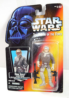 STAR WARS Power of the Force - Han Solo Hoth Gear Actionfigur KENNER Neu (L)