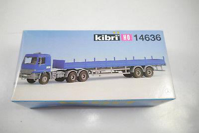 KIBRI  14636 Zugmaschine MB ACTROS  mit Auflieger  Modellbausatz  H0  OVP (K36)