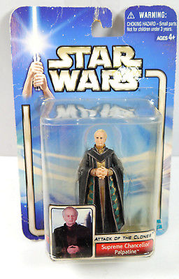 STAR WARS Attack of the Clones - Chancellor Palpatine Actionfigur HASBRO Neu (L)