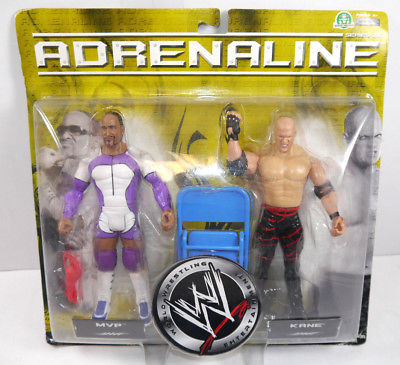 WWE ADRENALINE Series 25 - MVP & Kane Actionfigur Set JAKKS PACIFIC Neu (L)