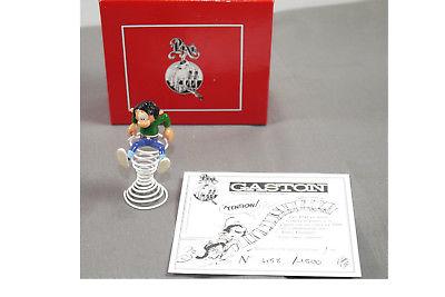 GASTON LAGAFFE 4709 auf der Spirale  Metall  Figur PIXI  sur son ressort  ( L )