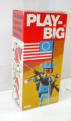 PLAY BIG 5861 Federation Colonel mit US Flagge 70er > NUR VERPACKUNG < (K65)