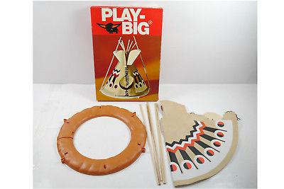 PLAY BIG    Indianer Zelt 5611  70er mit OVP ( F6 ) A